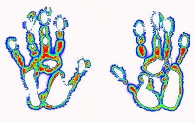 Kirlian Hands Colorised