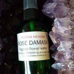 Organic Rose Damask Flower Water