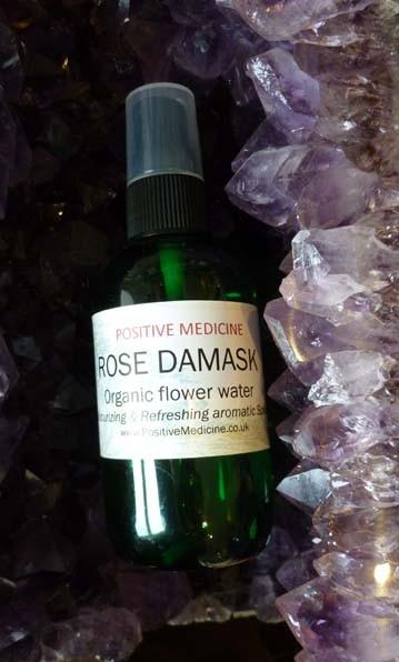 Organic Rose Damask Flower Water